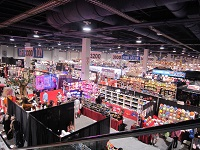 Inside of the exhibition hall in Las Vegas.