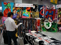 The exhibition booth.