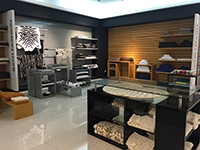 The chic products in SOREMA's show room.