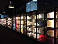 High-sensed show room of MORE TEXTILE.