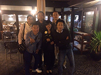 Dinner with people from Imai Towel and member from Marushin.