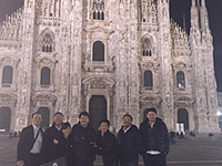 Picture with ERTEKS members in front of Duomo di Milano .