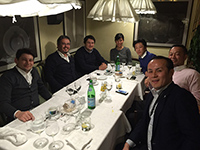 Dinner in Milan after the meeting with Turkish towel manufacture