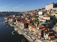 The view of Porto, the city of textile.