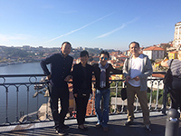 Group picture with Porto's view.
