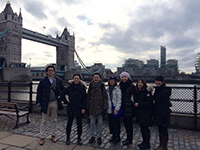 Picture with Mr. Yano, the president of Asahi Towel, in front of London Bridge.