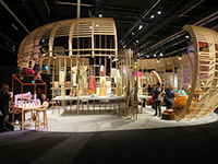 Many booth were set up with high qualities.