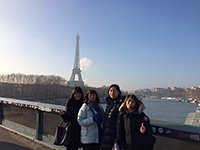 In front of Eiffel Tower.