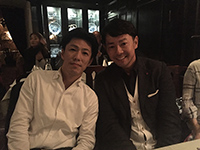 Picture with Mr.Mori, the president of Tuttle-Mori Agency Inc.