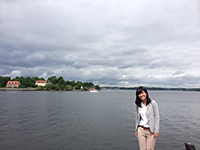 Enjoying the scene of Finland Bay before the meeting.