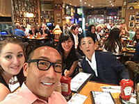 Lunch with American customer.