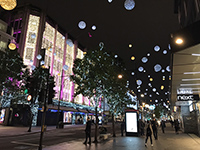 Streets of London covered by atmosphere of X'mas.
