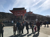 In front of Kiyomizu temple, the start of our market research.