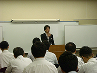 Orientation by speaker from Tanabe management.