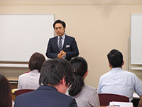 The second day started with the orientation by the speaker of Tanabe Management.