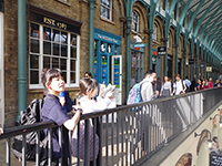 Visiting the Covent Garden. Moomin shop also stands here.
