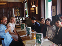 Enjoying lunch time with Anorak members!