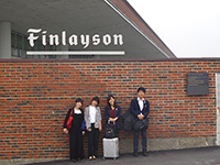In front of Finlayson office.