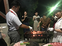 It was the first BBQ done only by the designers!