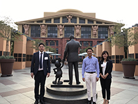 Memorial shot with Mr. Takebe of The Walt Disney Company (Japan) Ltd.  Thank you for helping us. We thank you very much.