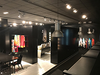 The stylish black meeting room was so impressive!