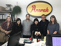 "Commemorative picture in ""Anorak,"" with Matt-san and his wife working together."