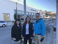 "In front of ""MundoTextil""with Ms. Maria."