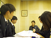 During the group discussion.①