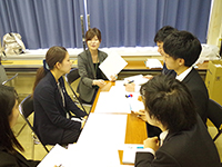 During the group discussion.③