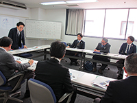 The Tanabe management stage up camp for directors and executives was held.