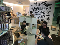 We all helped to prepare the Pop-Up Shop.