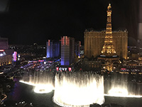 Arrived in U.S.A. Beautiful scene from night of Las Vegas.