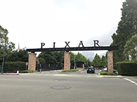 We visited the office of PIXAR Animation Studios.