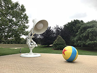 Found huge objet of Luxo Jr. and Pixar Ball.
