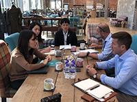 We had a business meeting with Abraham Moon &amp Sons Ltd. .