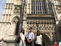 A commemorative photo in front of Westminster abbey, a royal church in the centre of London.