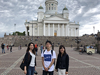 This is Helsinki cathedral, located almost on the center of Helsinki, the capital of Finland.