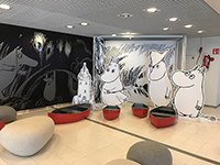 This is the Moomin Museum in Tampere, Finland! A large piece of work is welcome.