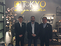 A commemorative photo at customer in the Netherland after a business meeting.