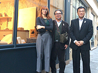 A picture at showroom at Le Marais, key sauce of Japanese superior products.