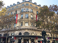 "One of the biggest department stores ""Galeries Lafayette"" at Paris. It was a fruitful overseas business trip."