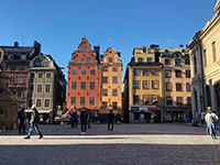 This place is called Gamla Stan. Very beautiful open space in Stockholm.