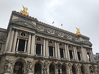 I visited the opera theater and the Opera Garnier.