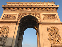 This is Etoile Arc de Triomphe, a historical building in Paris. I could really see the history of Paris.
