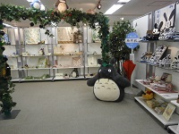 Totoro welcomes the guests.