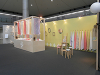 "The booth of ""Sinne towel"" with very soft atomosphere."
