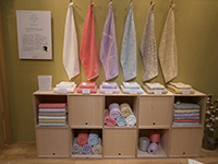 Sinne, the Imabari towel, matches well with the fashionable interior.