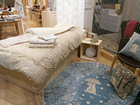 The Moomin items such as rug and bedclothes has got very cozzy design and atomosphere.