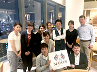 After the exhibition, we had dinner with Mr. John from Abraham Moon & Sons.