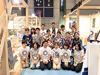 This year's members who participated in Interior Lifestyle Tokyo.New members also joined the exhibition.